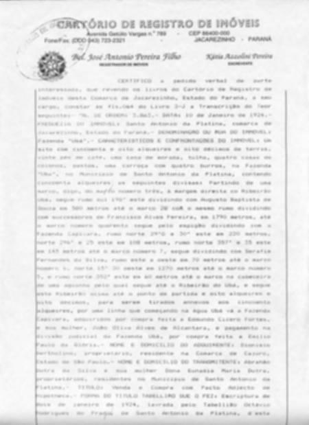 Averbação de Demolição Menor Valor em José Bonifácio - Averbação de Demolição