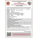 Alvará do corpo de bombeiros preços baixos no Parque do Carmo